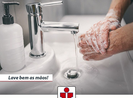 Lave as mãos frequentemente