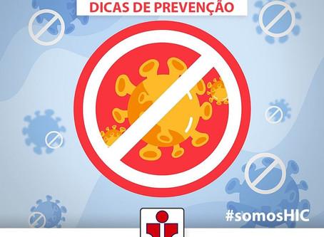 COVID-19 DICAS DE PREVENÇÃO: