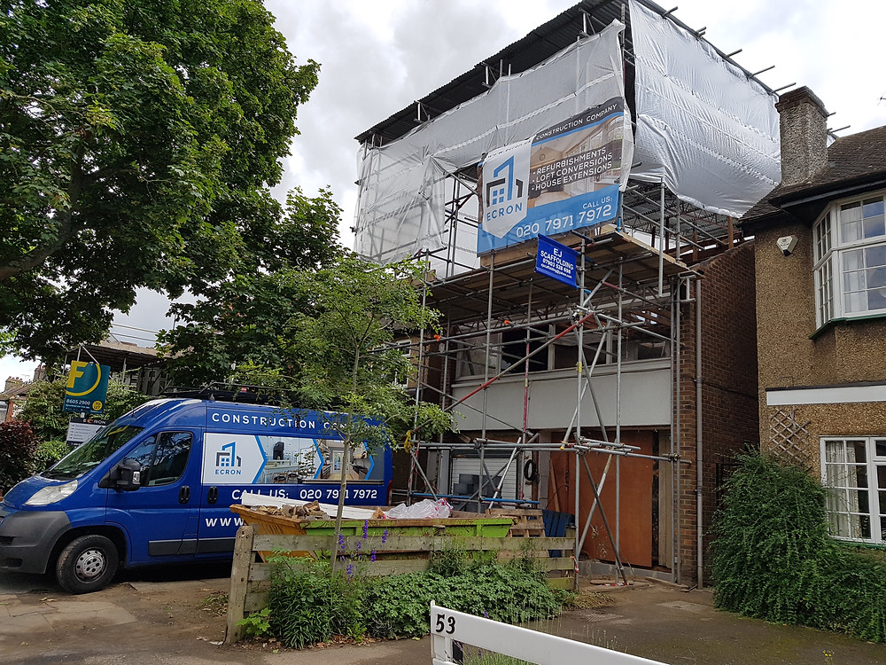 Site in Dorset Road, Wimbledon SW19. Whole house refurbishment with loft conversion and rear extension.