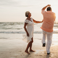 Dancing during Clearwater Beach Florida Elopement