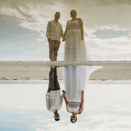 Bride and Groom at Upham Beach in St Petersburg Florida Elopement