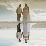 Bride and Groom at Upham Beach in St Petersburg Florida Elopement