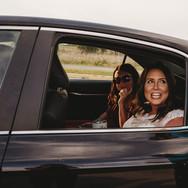 Bride arriving to Honeymoon Island Dunedin Florida