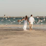 Chasing birds at Honeymoon Island