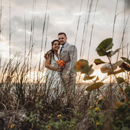 Sea Grapes and Wedding Couple Elopement