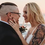 Tattoed Bride at Indian Rocks Beach Elopement Florida