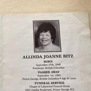 Linda Bitz,  Sept. 1996