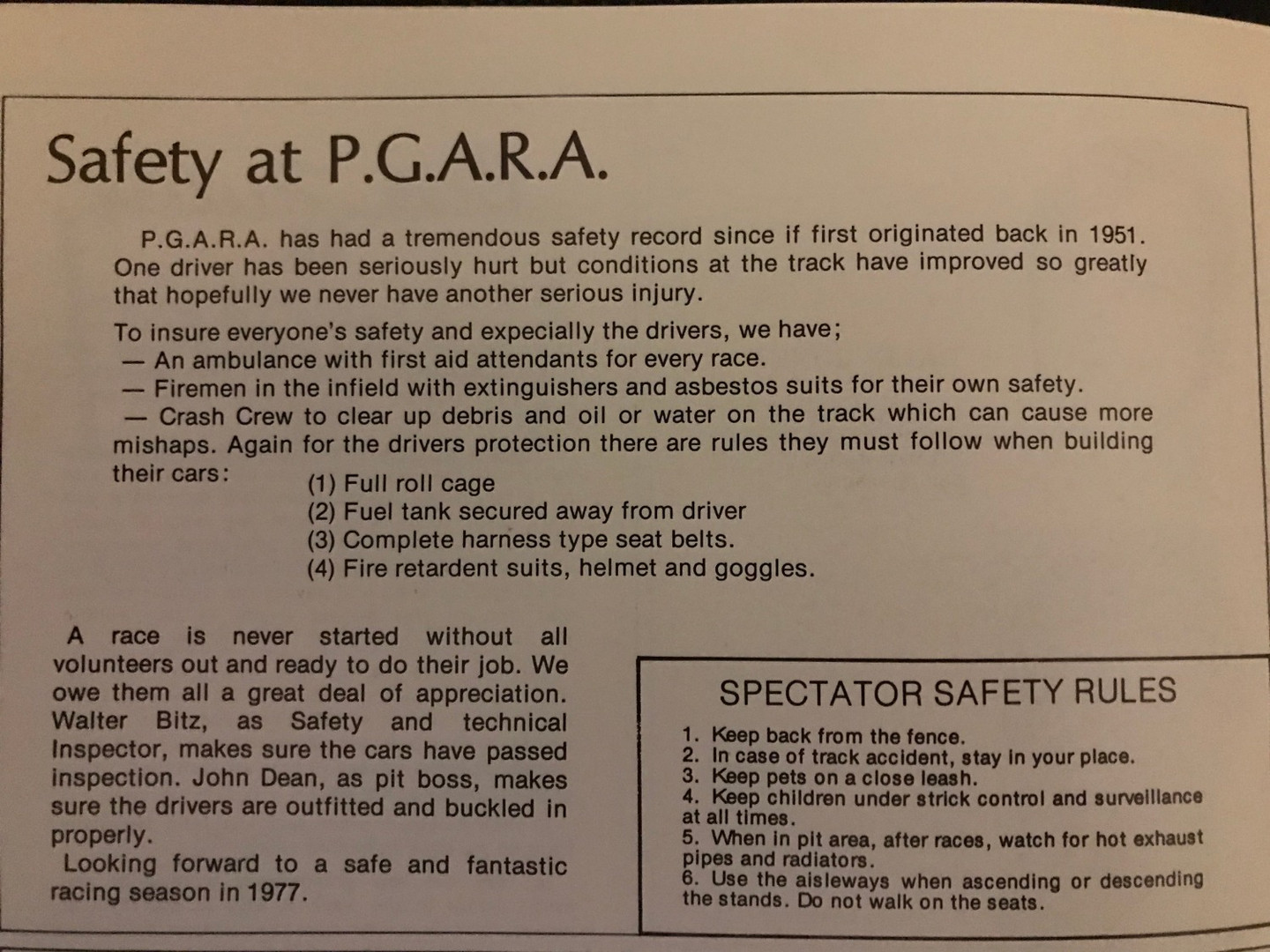 Safety rules, still apply today