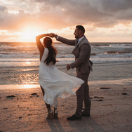 Couple at Sunset in Pass-a-Grille Beach Florida