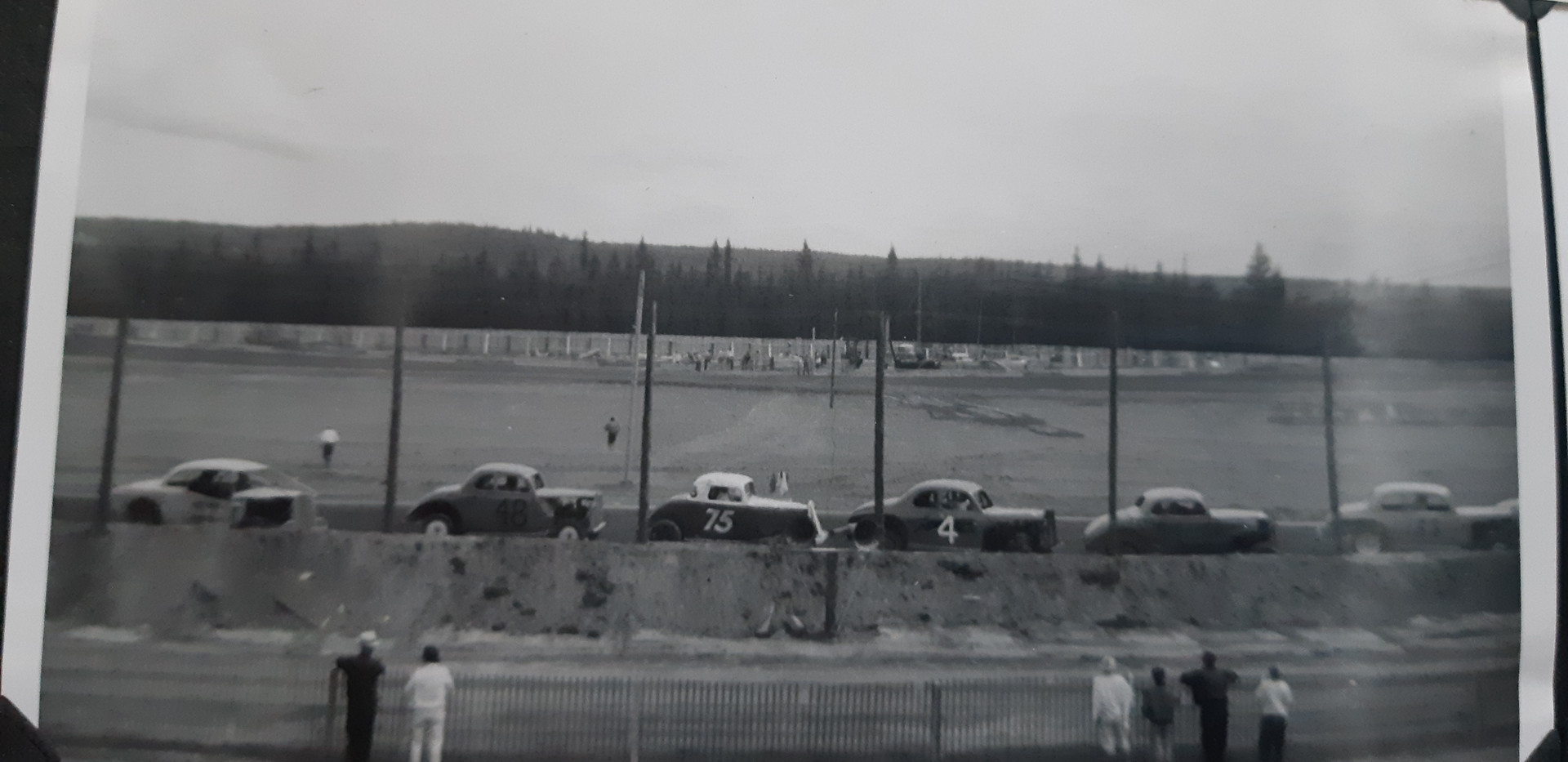 Display of cars on front strait