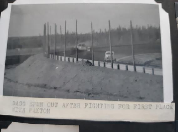 #77 Bill Dagg (against fence)