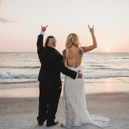 Tattoed Bride at Indian Rocks Beach Elopement Florida