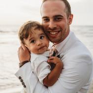Groom and Son Beach Wedding Sand Key Sarasota Florida
