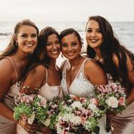 Bridesmaids Beach Wedding Sarasota Florida