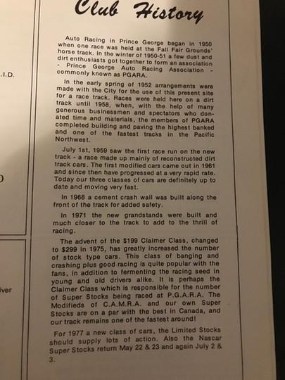 History of PGARA, started 1950!!