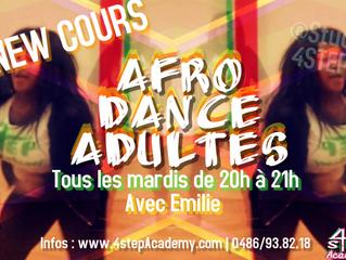 New cours - Afro dance adultes avec emilie!