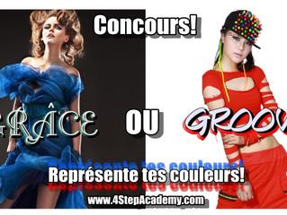 """CONCOURS :  """"Grâce ou groove"""" ? Représente tes couleurs!"""