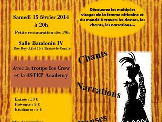 """Spectacle """"Au nom de la femme"""" en collaboration avec le centre culturel de Braine-le-Comte"""