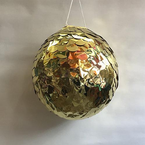 Piñata boule dorée