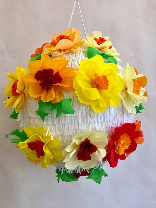 Piñata boule à fleurs