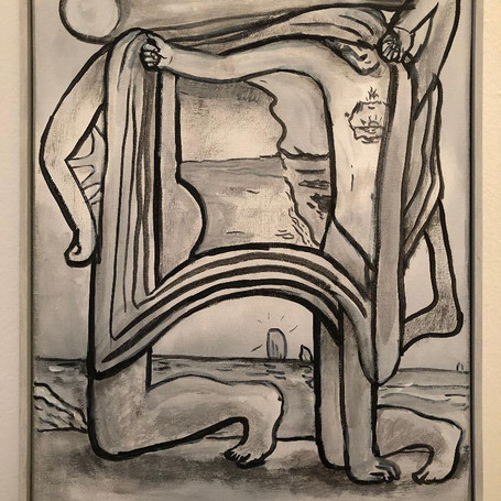 "Jeff Davis ""Untitled"" Flashe on Canvas 14""x11"" 2018"