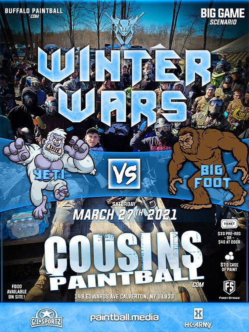 Winter Wars at Cousins Paintball