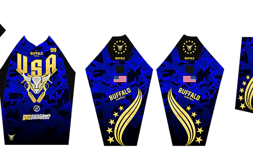Buffalo Paintball Custom Blue & Gold 2021 USA Jersey