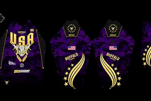 Buffalo Paintball Custom Purple & Gold 2021 USA Jersey