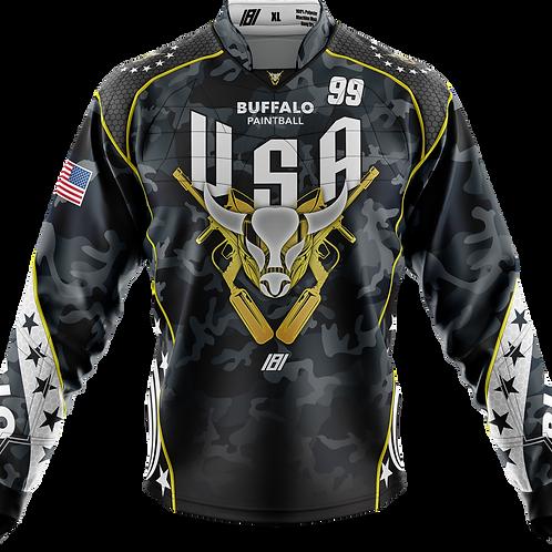 Buffalo Paintball Custom BLACK 2020 USA Jersey
