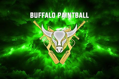 Green Buffalo Paintball Field Flag