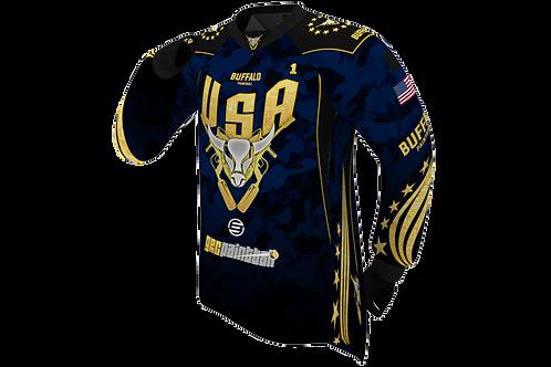 Buffalo Paintball Custom Dark Blue & Gold 2021 USA Jersey