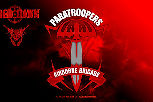 Red Dawn Paratroopers Flag