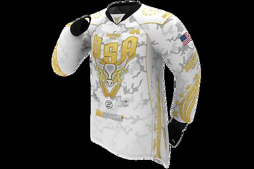 Buffalo Paintball Custom White & Gold 2021 USA Jersey