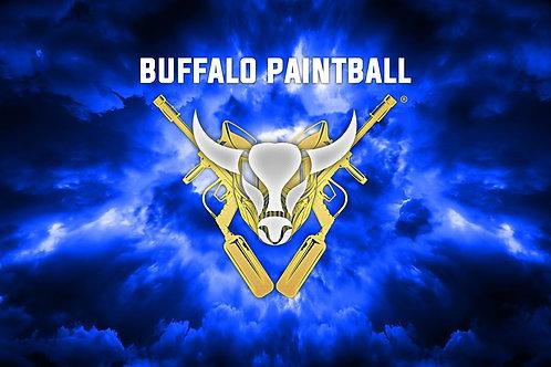 Blue Buffalo Paintball Field Flag