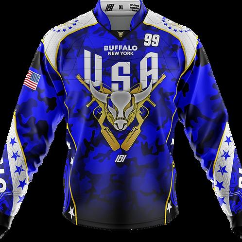 Buffalo Paintball Custom BLUE 2020 USA Jersey