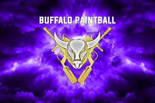 Purple Buffalo Paintball Field Flag