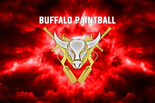 Red Buffalo Paintball Field Flag