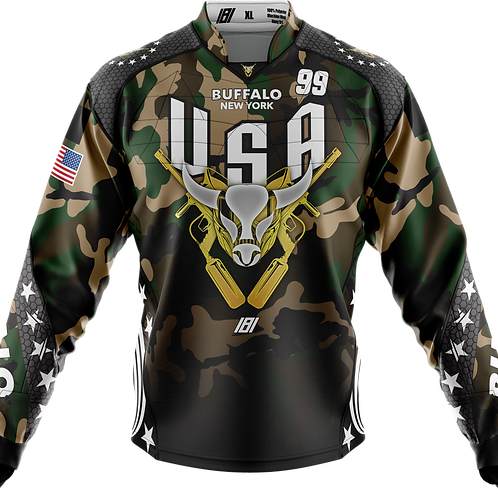 Buffalo Paintball Custom CAMO 2020 USA Jersey