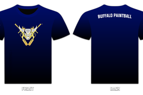 Buffalo Paintball Logo T-Shirt (Navy)