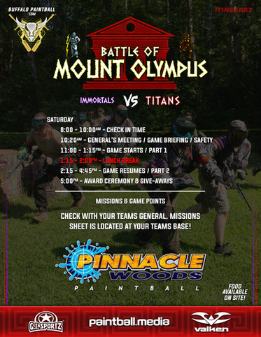 21 - Battle Of Mount Olympus Itinerary a