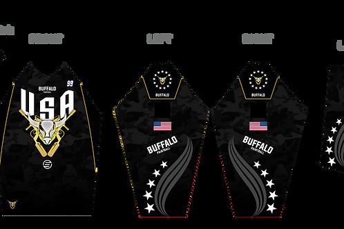 Buffalo Paintball Custom Black 2021 USA Jersey