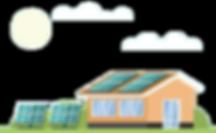 Sistema fotovoltaico instalado