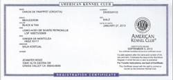 Artus AKC registration