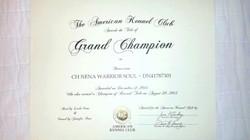 Anka's AKC Grand Championship
