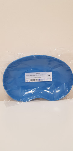 bassin reniforme en plastique bleu medibloux. Black Bedroom Furniture Sets. Home Design Ideas