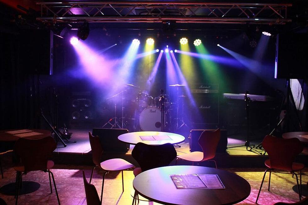 京都のライブハウスEN-LAB.のステージ