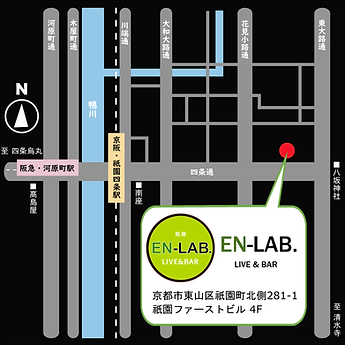 京都のライブハウスEN-LAB.のMAP