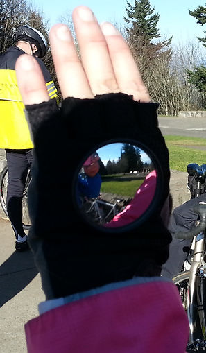 Glove Mounted Biking Mirror