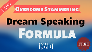 Overcome stammering Free Video Course