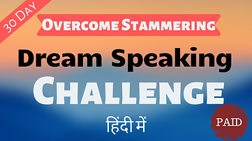 Overcome stammering Video Course 30 Day Challenge